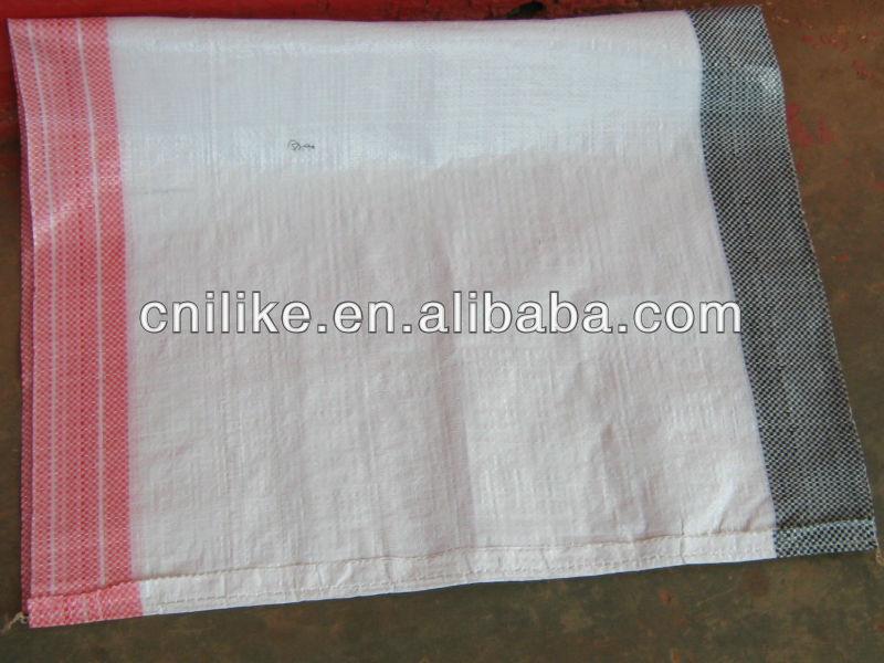 2012 di alta qualità(bianco, rosso, striscia nera) sacchetto tessuto pp