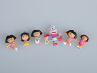 Игрушечный телефон Lot 6pcs Dora Explorer Action Figure Mini Doll Set TG1265