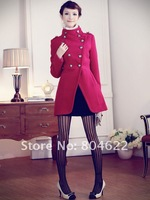 Женская одежда из шерсти s! Lady's Coat winter Double-breasted women's Fashion coat Cloak coat /jacket outerwear EX-13
