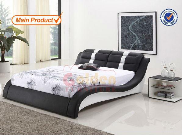 hete verkoop ouderwetse slaapkamer meubels queen size lederen bed, Deco ideeën