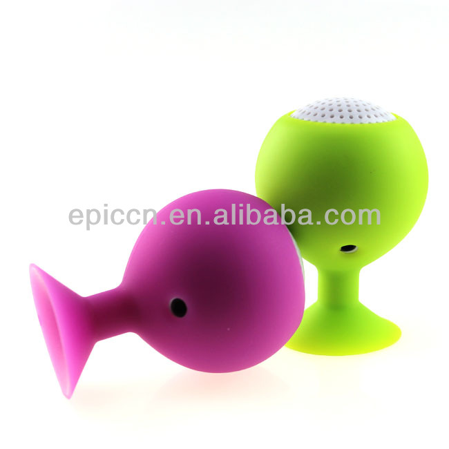 New arrival mini sucker speaker, ball sucker speaker with suction cup 2013 gift