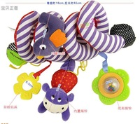 Детская погремушка 2013! christmas gift toy for kid MIC Elc multifunctional baby bed hanging car hanging newborn toyl, H-19