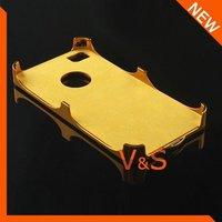 Чехол для для мобильных телефонов Luxury Brushed Metal Hard Cover Case for Apple iPhone 4G 4GS With Diamond Hole