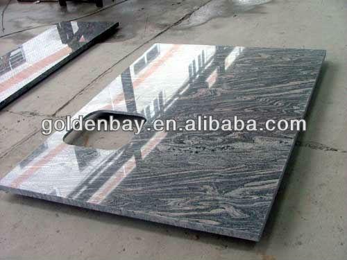 Natur granit waschtischplatte mit unterbaubecken schiefer ... | {Waschtischplatte schiefer 95}