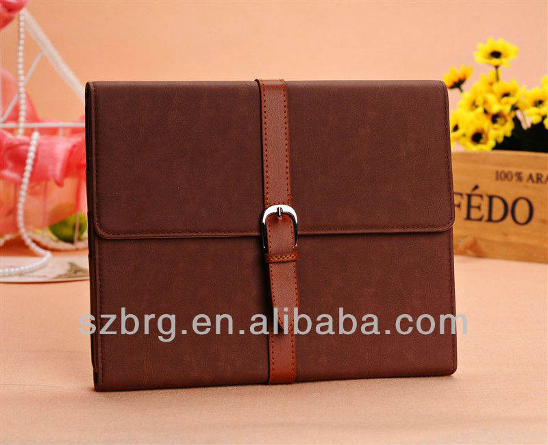 Business case for ipad 2 with buckle for new smart PU case fashion design