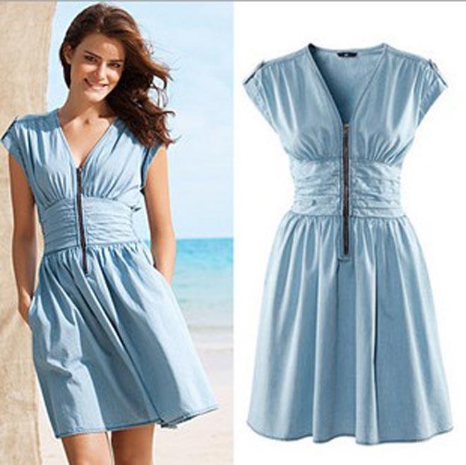 Джинсовые платья женские летние