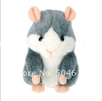 Wholesale  Free shipping 10 Pieces/Lot Mimicry Pet Hamster Talking MimicryPet Plush Toy Christmas New Year Gift