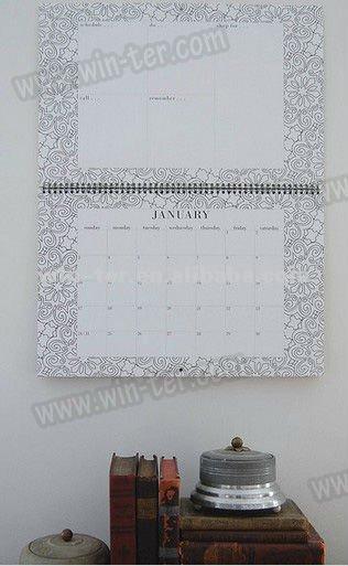 2013 design wholesale wall calendar printing WT-CLD-390