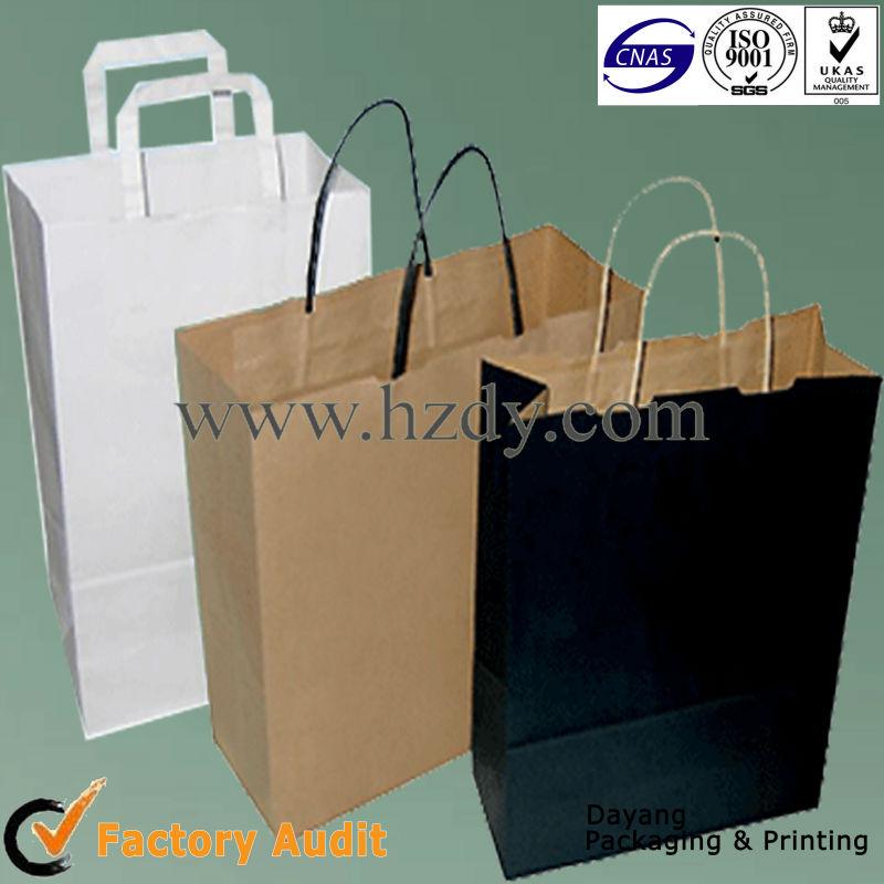 Paper handle kraft paper bag for gift packing