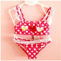 Купальный костюм для девочек Girl Bikini Lovely Heart 6-18 Month Kids Swimwear Children's Beach Supplies