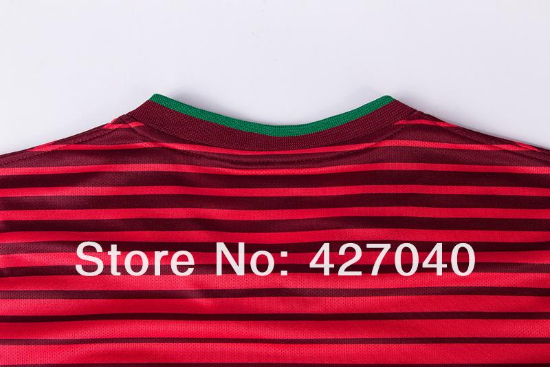 Мужская футболка для футбола Portugal jersey Cristiano RONALDO Nani camisa Portugal home red away white Portugal soccer jersey portugal shirts