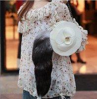 """Детали и Аксессуары для сумок large fox tail pendant, keychain /, bag charm, Xuanhu fur tail, key chain 16"""" inches length Fashion"""