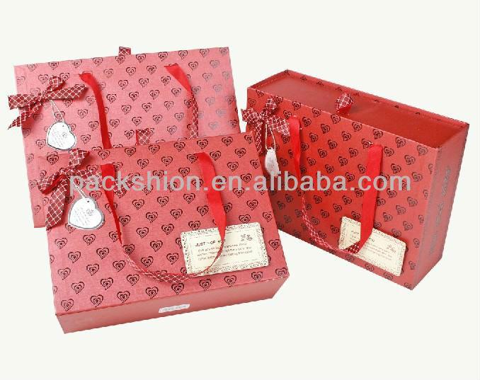 OEM Design Ribbon Tie Gift Bags