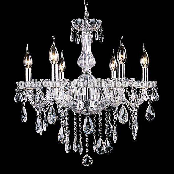 L mpara cristalina moderna candelabros con las bolas - Lampara de arana moderna ...