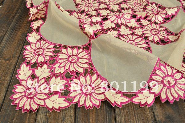 PINK Sunflower  Embroidery Table cloth 85X85CM