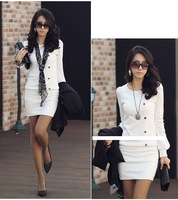 2013 OL round neck long-sleeved dress sexy skirts, Korean fall and winter fashion new ladies Primer shirt FREE SHIPPING WQL019