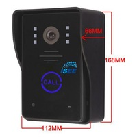 Wireless 2.4G 7 Inch Digital Lcd Ir Camera Video Door Phone Intercom System 1V2 Touch Key Free Shipping EMS
