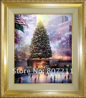 Холст для рисования Kixhome-painting 100% paintingon Thomas Kinkade Thomas Kinkade-Christmas in New York