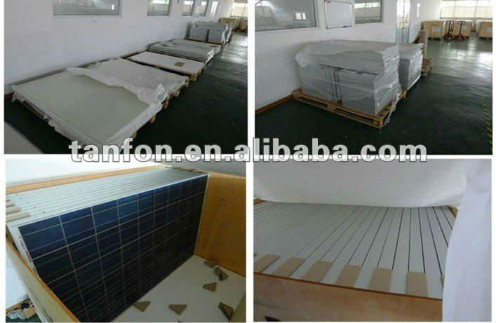 High efficiency 200w poly solar panel price per watt for small system 5kw off grid solar energy system