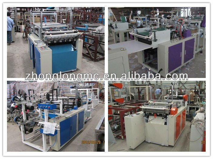 Bottom sealing and cutting bag making machine