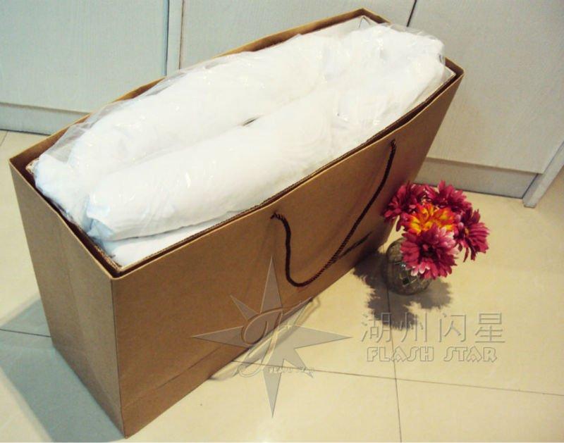 Naturel rouge de soie coton couette / kapok fiber couette