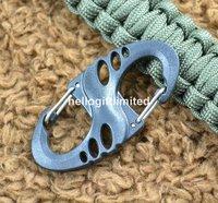 Детали и Аксессуары для сумок Hello Gift Limited 100 X s/biner Paracord s Keyrack M414
