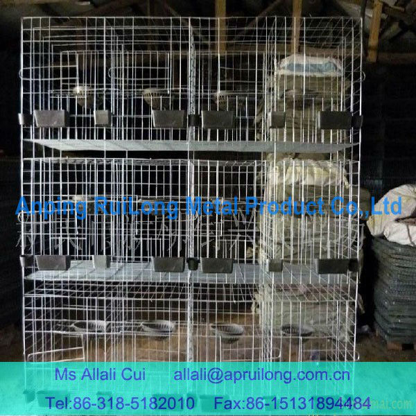 galvanized 3 layer 12set pigeon cage