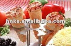 Automática de aço inoxidável pizza cone máquina para venda