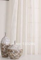 customized modern plain home decoration window sheer voile curtain