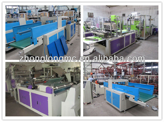 sealing and cutting plastic bag making machine