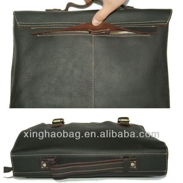 Europe style! Vintage Handmade Genuine Leather manufacturer Messenger Satchel bag
