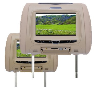 800*480 resolution TFT headrest dvd player with dvd and monitor,FM transmit,read USB/SD card