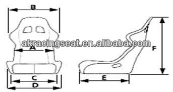 HOTTEST design auto sport racing seat