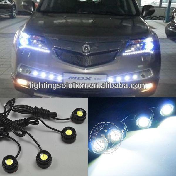 2x 3W LED Eagle Eye Frozen Blue Light Daytime Running DRL Tail Backup Light Car