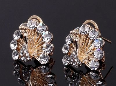 Fancy Brand New Woman's CZ Crystal 10KT gold filled Earrings E4.jpg