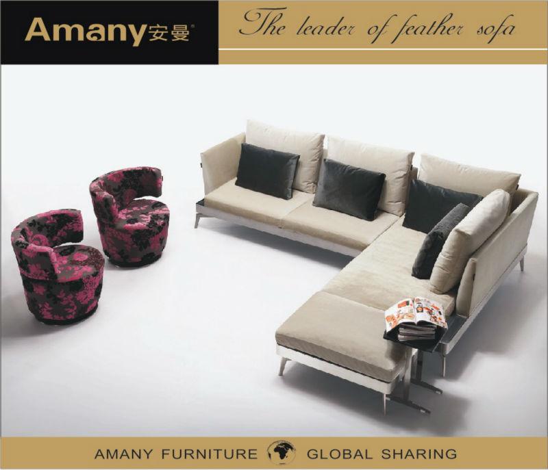 Fashion design comfortable home furniture sectional sofa