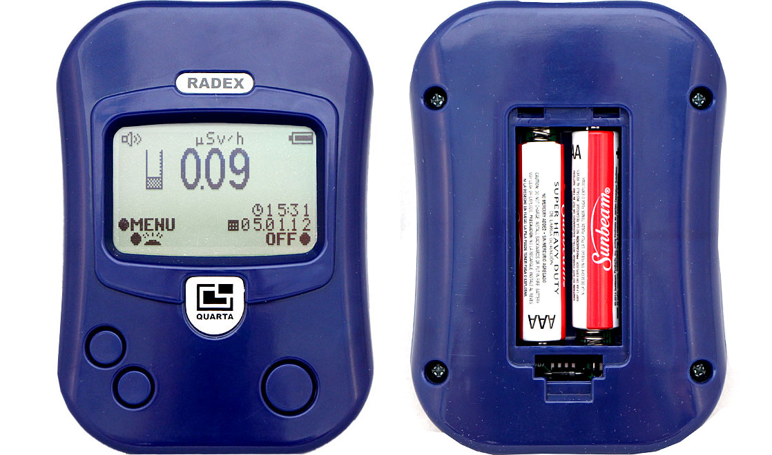 Radioactivity detector RADEX RD1212, Russia origin