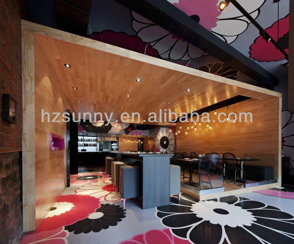 인테리어 벽 목재 패널, 나무 마감재 천장 디자인-천장 타일 ...