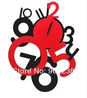 NEW  DIY Modern Time Graceful Wall Clock Creative Digital Clock Free Shipping
