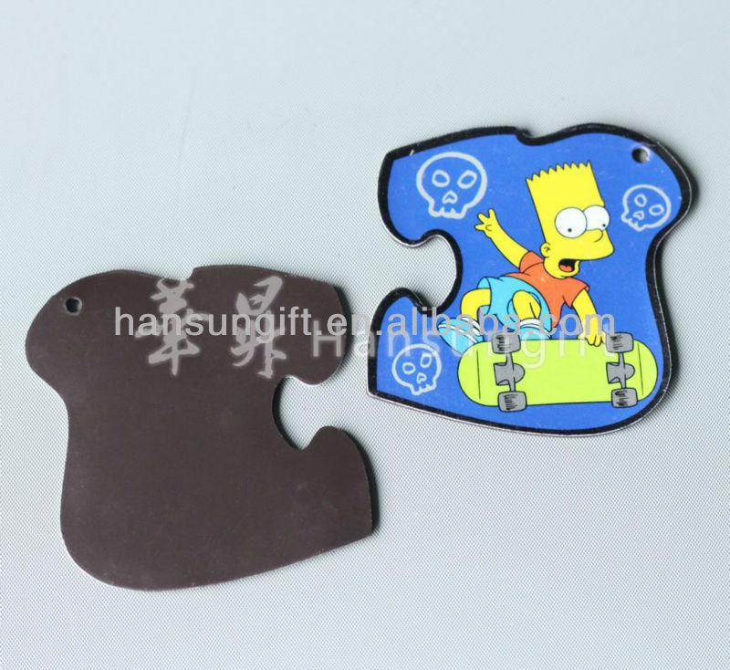 custom die cut 3d rubber fridge magnet for promotion