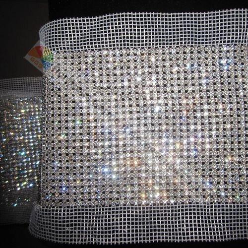 24 lines wedding Crystal rhinestone mesh banding