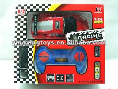 2 channels remote control toy racing car with light