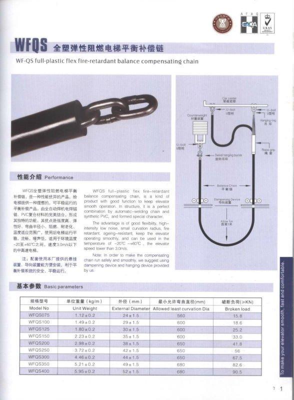 WFQS Elevator Compensation Chain
