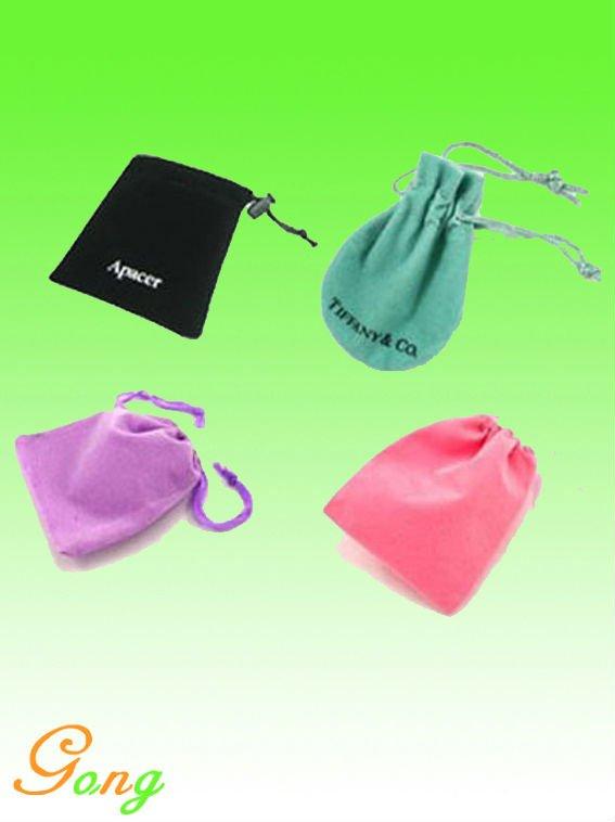 Round velvet bag