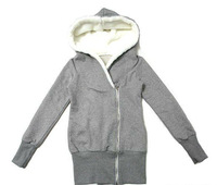 Женская куртка New Fashion Korea Women Hoodie Fleece Jacket Coat Warm Outerwear Hooded Zip