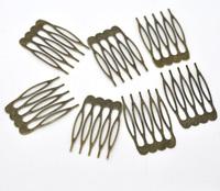 150 Bronze Tone Comb Shape Hair Clips 39x26mm