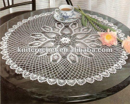 tricoter une nappe de table