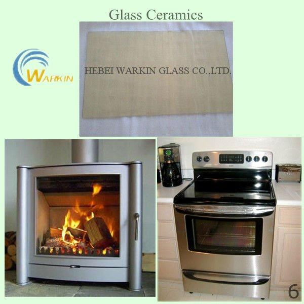 ceramic glass fireplace doors