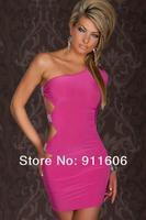 2012 New Crystal Slim Oblique Women's Fashion Autumn Sexy Culeb Wear One-piece Dress YF2551 + Free Shipping + High Quality