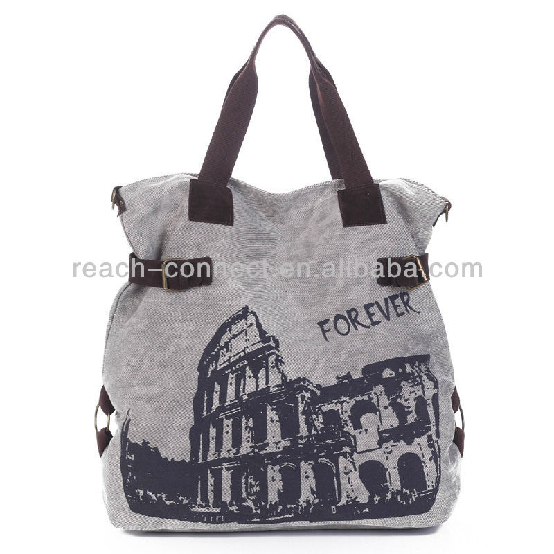 leisure style canvas cloth bag